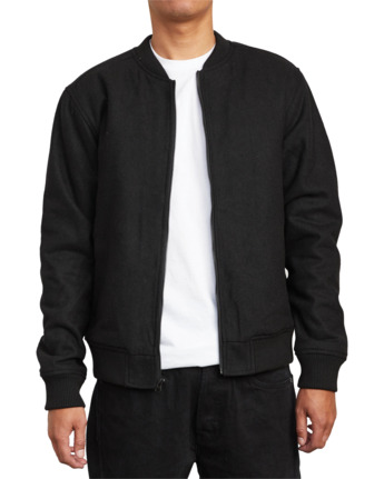 8 Troy - Bomber Jacket for Men Black U1JKRJRVF0 RVCA