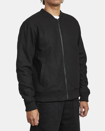 7 Troy - Bomber Jacket for Men Black U1JKRJRVF0 RVCA