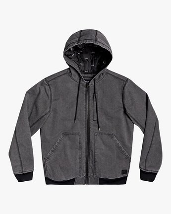 Hooded Canvas - Bomber Jacket for Men  U1JKRKRVF0