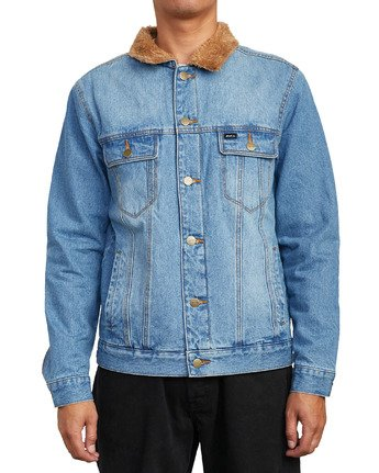 6 Daggers - Denim Sherpa Jacket for Men Blue U1JKRTRVF0 RVCA