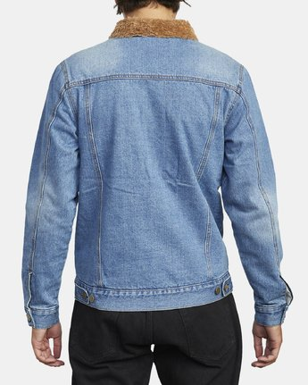 4 Daggers - Denim Sherpa Jacket for Men Blue U1JKRTRVF0 RVCA