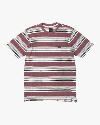 1 Ventura Stripe - Short Sleeve Top for Men Red U1KTRBRVF0 RVCA