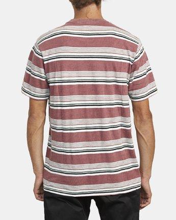 3 Ventura Stripe - Short Sleeve Top for Men Red U1KTRBRVF0 RVCA