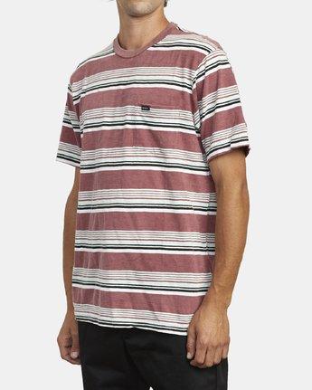 4 Ventura Stripe - Short Sleeve Top for Men Red U1KTRBRVF0 RVCA