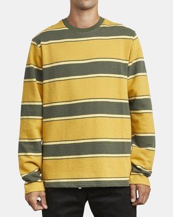 2 Reducer Stripe - Long Sleeve Top for Men Green U1KTRGRVF0 RVCA