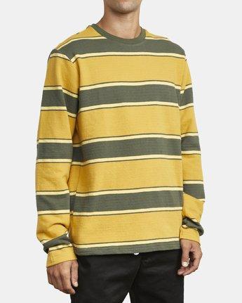 5 Reducer Stripe - Long Sleeve Top for Men Green U1KTRGRVF0 RVCA