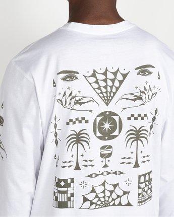 5 Jesse Brown Vision Flash - T-shirt pour Homme Blanc U1LSRERVF0 RVCA