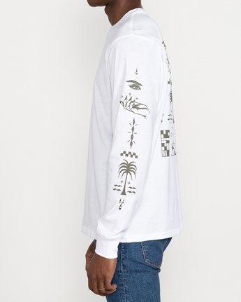 3 Jesse Brown Vision Flash - T-shirt pour Homme Blanc U1LSRERVF0 RVCA