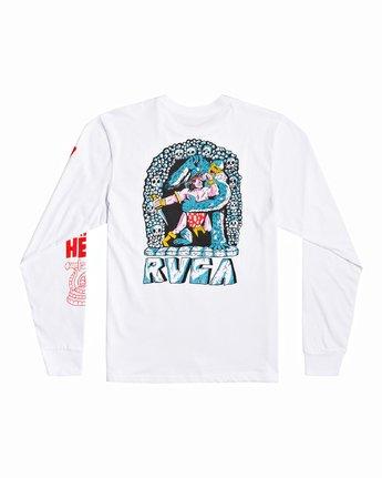 1 Grant Kratzer Barbarian - Long Sleeve T-Shirt for Men White U1LSRGRVF0 RVCA