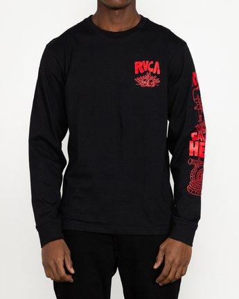 6 Grant Kratzer Barbarian - T-shirt manches longues pour Homme Noir U1LSRGRVF0 RVCA