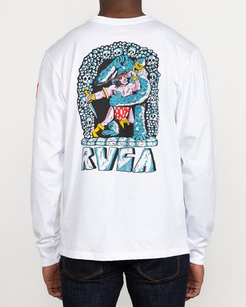 4 Grant Kratzer Barbarian - Long Sleeve T-Shirt for Men White U1LSRGRVF0 RVCA