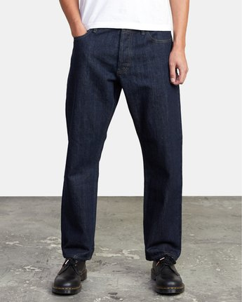 1 New Dawn - Straight Fit Selvedge Jeans for Men  U1PNRNRVF0 RVCA