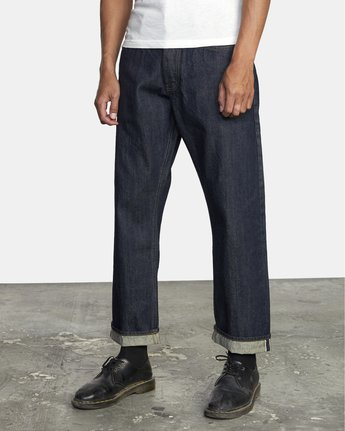 2 New Dawn - Straight Fit Selvedge Jeans for Men  U1PNRNRVF0 RVCA