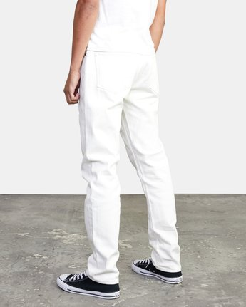 2 Daggers - Slim Fit Jeans for Men White U1PNRQRVF0 RVCA