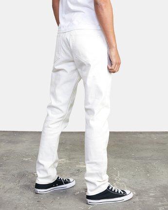 4 Daggers - Slim Fit Jeans for Men White U1PNRQRVF0 RVCA