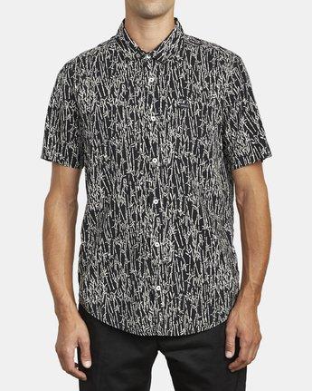 1 Jungle Fuzz - Short Sleeve Shirt for Men Black U1SHRCRVF0 RVCA