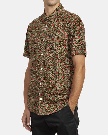 4 Jungle Fuzz - Short Sleeve Shirt for Men Green U1SHRCRVF0 RVCA