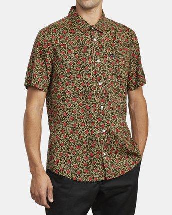 5 Jungle Fuzz - Short Sleeve Shirt for Men Green U1SHRCRVF0 RVCA