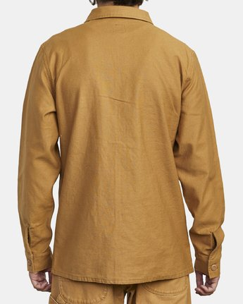 3 Fubar - Overshirt for Men Yellow U1SHRPRVF0 RVCA