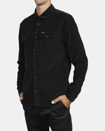 4 Freeman - Long Sleeve Shirt for Men Black U1SHRQRVF0 RVCA