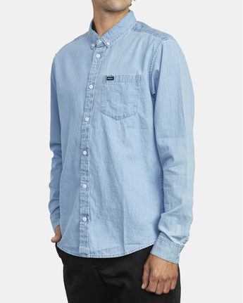4 Hastings - Long Sleeve Shirt for Men Blue U1SHRRRVF0 RVCA
