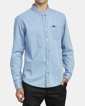 5 Hastings - Long Sleeve Shirt for Men Blue U1SHRRRVF0 RVCA