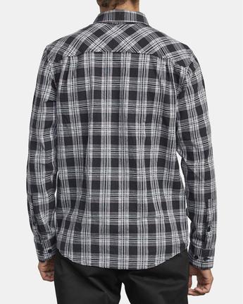 5 Thatll Work Flannel - Long Sleeve Flannel Shirt for Men Black U1SHRSRVF0 RVCA