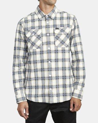 2 Thatll Work Flannel - Long Sleeve Flannel Shirt for Men White U1SHRSRVF0 RVCA