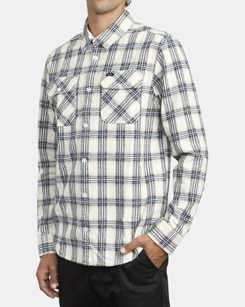 4 Thatll Work Flannel - Long Sleeve Flannel Shirt for Men White U1SHRSRVF0 RVCA