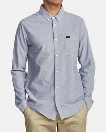 2 Thatll Do Stretch - Long Sleeve Shirt for Men Blue U1SHRTRVF0 RVCA