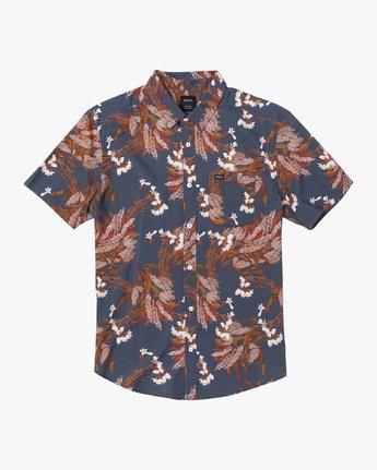 1 Paradiso Floral - Short Sleeve Shirt for Men Blue U1SHRXRVF0 RVCA