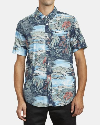 2 Paradiso Floral - Short Sleeve Shirt for Men  U1SHRXRVF0 RVCA