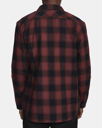 3 Replacement# - Flannel Shirt for Men Red U1SHVCRVF0 RVCA