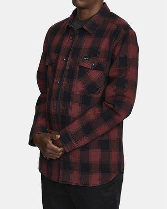 2 Replacement# - Flannel Shirt for Men Red U1SHVCRVF0 RVCA