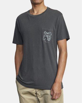 6 Bull Snake - T-Shirt for Men Black U1SSVDRVF0 RVCA
