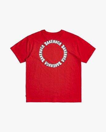 0 Baker RVCA - T-shirt pour Homme Rouge U1SSVGRVF0 RVCA
