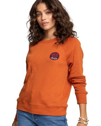 6 Dynasty - Sweatshirt for Women Orange U3CRRCRVF0 RVCA
