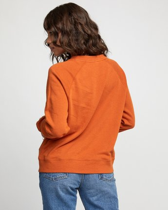 1 Dynasty - Sweatshirt for Women Orange U3CRRCRVF0 RVCA