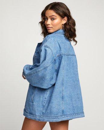 4 Stacey Rozich Lounger Denim - Veste en jean pour Femme Bleu U3JKRARVF0 RVCA
