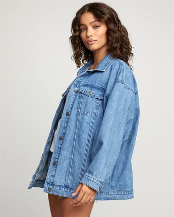 5 Stacey Rozich Lounger Denim - Veste en jean pour Femme Bleu U3JKRARVF0 RVCA