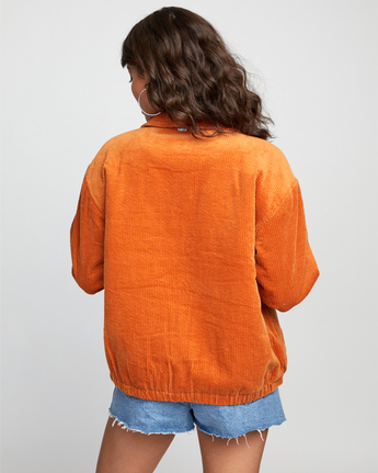 1 Viber Corduroy - Corduroy Jacket for Women Orange U3JKRCRVF0 RVCA