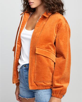 2 Viber Corduroy - Corduroy Jacket for Women Orange U3JKRCRVF0 RVCA