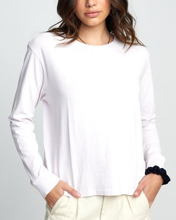 2 Big RVCA - Long Sleeve T-Shirt for Women Purple U3LSRARVF0 RVCA