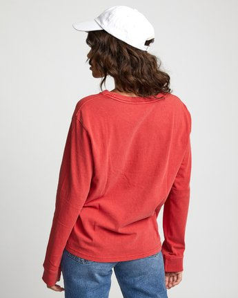 1 Big RVCA - Long Sleeve T-Shirt for Women Red U3LSRARVF0 RVCA