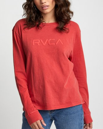 2 Big RVCA - Long Sleeve T-Shirt for Women Red U3LSRARVF0 RVCA