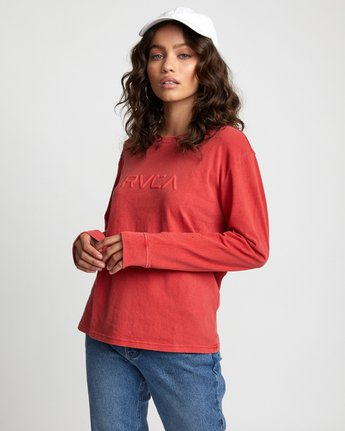 4 Big RVCA - Long Sleeve T-Shirt for Women Red U3LSRARVF0 RVCA