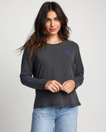 Jesse Brown Palm - Long Sleeve T-Shirt for Women  U3LSRCRVF0