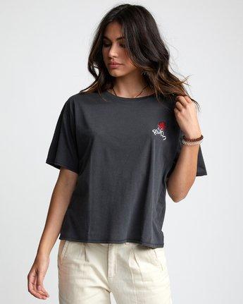 3 Petite Rose - T-Shirt for Women Black U3SSRBRVF0 RVCA