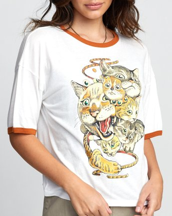 2 Shintaro Kago Cats - T-Shirt for Women White U3SSRGRVF0 RVCA