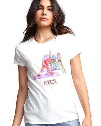5 Matt Furie Rainbow Yoga - T-Shirt for Women White U3SSRMRVF0 RVCA